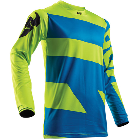 Youth Pulse MX Jersey blue / lime