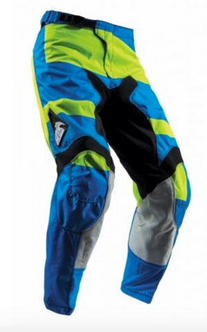 Thor Pulse Level Youth MX Pant blue / lemon