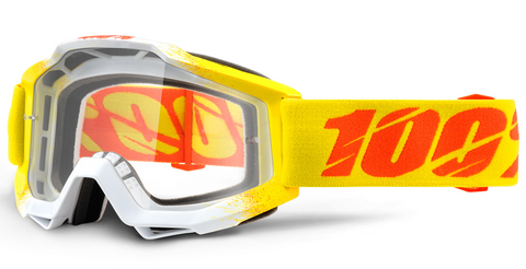 100% ACCURI GOGGLE ANTI FOG CLEAR LENS