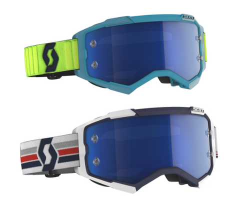 SCOTT Goggle Fury // Electric Blue Chrome