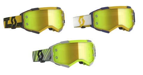 SCOTT Goggle Fury // yellow chrome