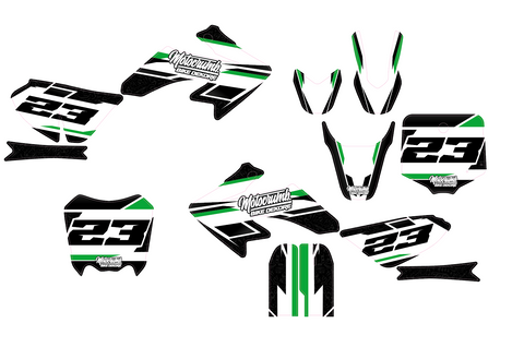 "IMR / MRF Dekor ""Slipstream"" white green"