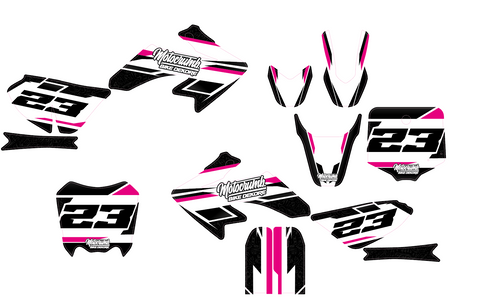 "IMR / MRF Dekor ""Slipstream"" white pink"
