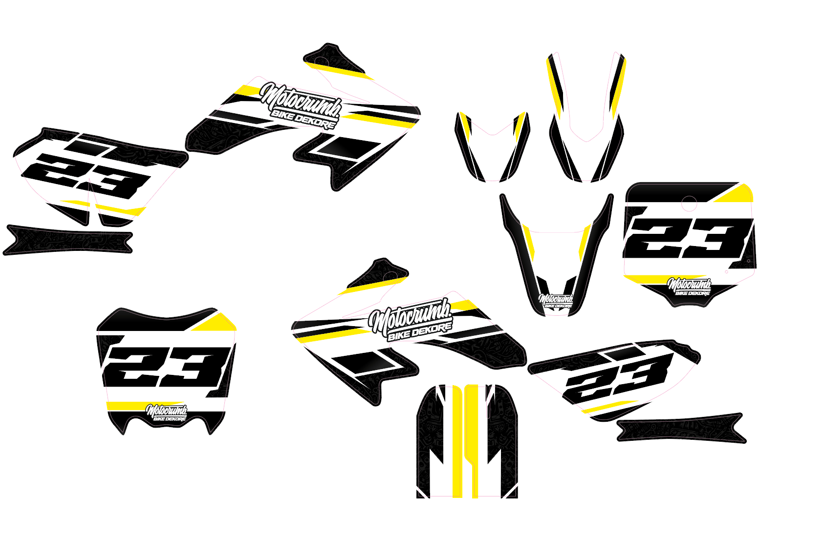 "IMR / MRF Dekor ""Slipstream"" white yellow"