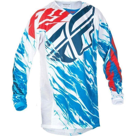 Fly Kinetic Relapse Youth MX Jersey red / white / blue
