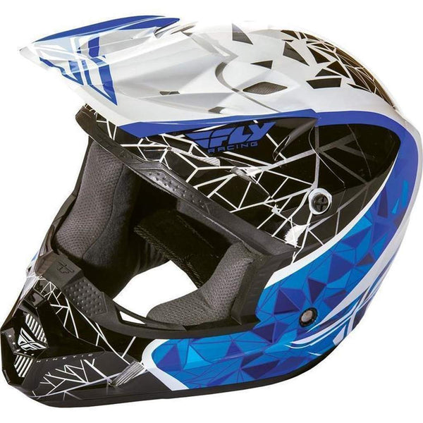 Fly Racing Helm Youth Kinetic Crux white / black / blue