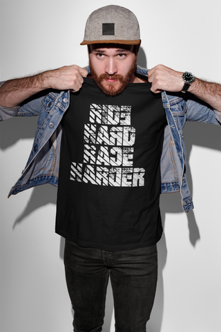 T-Shirt -Ride Hard Race Harder #2- Black