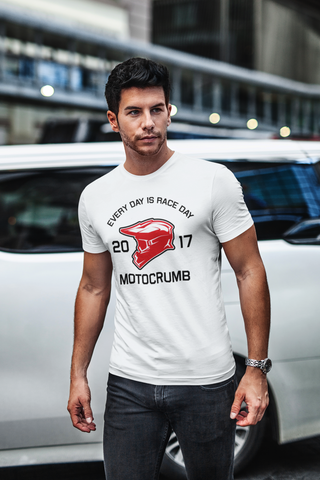 T-Shirt -Every Day Is a RaceDay- white