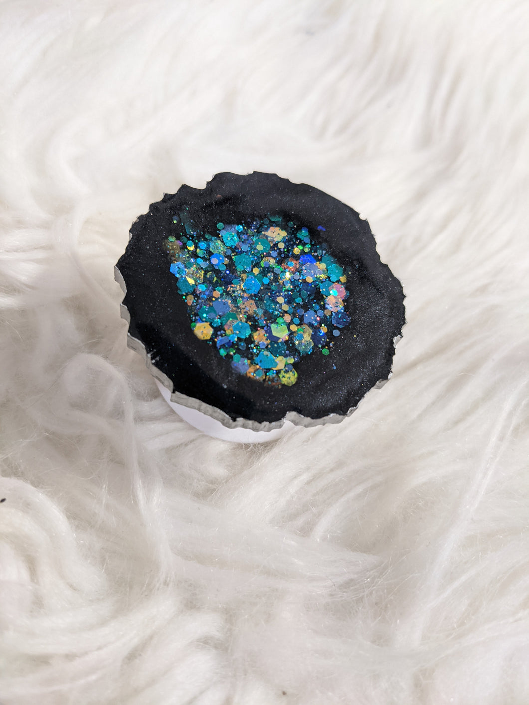 Blue/Black Geode Phone Grip