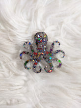 Load image into Gallery viewer, Multicolor Glitter Octopus Keychain