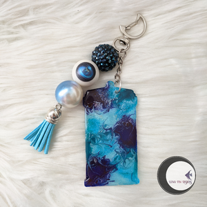 Blue and Silver Police Box Keychain
