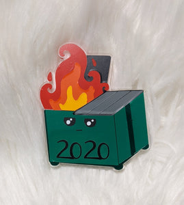 Dumpster Fire Ornament (or magnet)