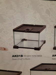 Mini glass reptile habitat AK01B Black