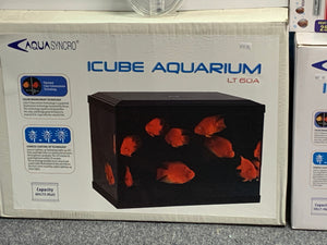 iCube Aquarium 60 litre with filter and LED light-White