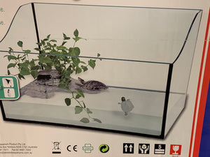 45cm turtle tank with filter and dock