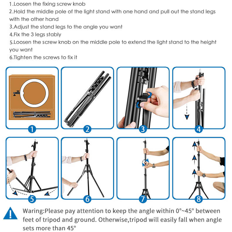 "YO-GOGO 10"" Professional LED Ring Light Kit"
