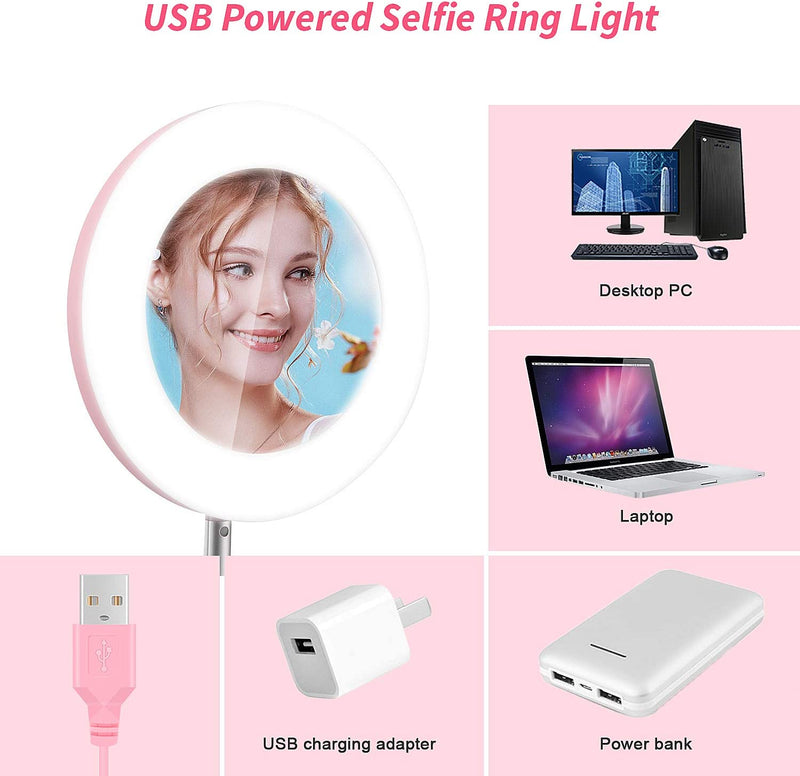 Upgraded 6'' Foldable Mini LED Ring Light