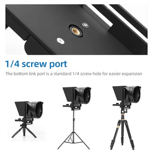 Upgrade portable teleprompter  for Phone and DSLR Recording