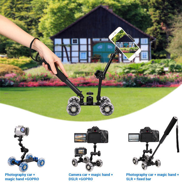 4 in 1 Tabletop Mobile Rolling Slider Dolly Car