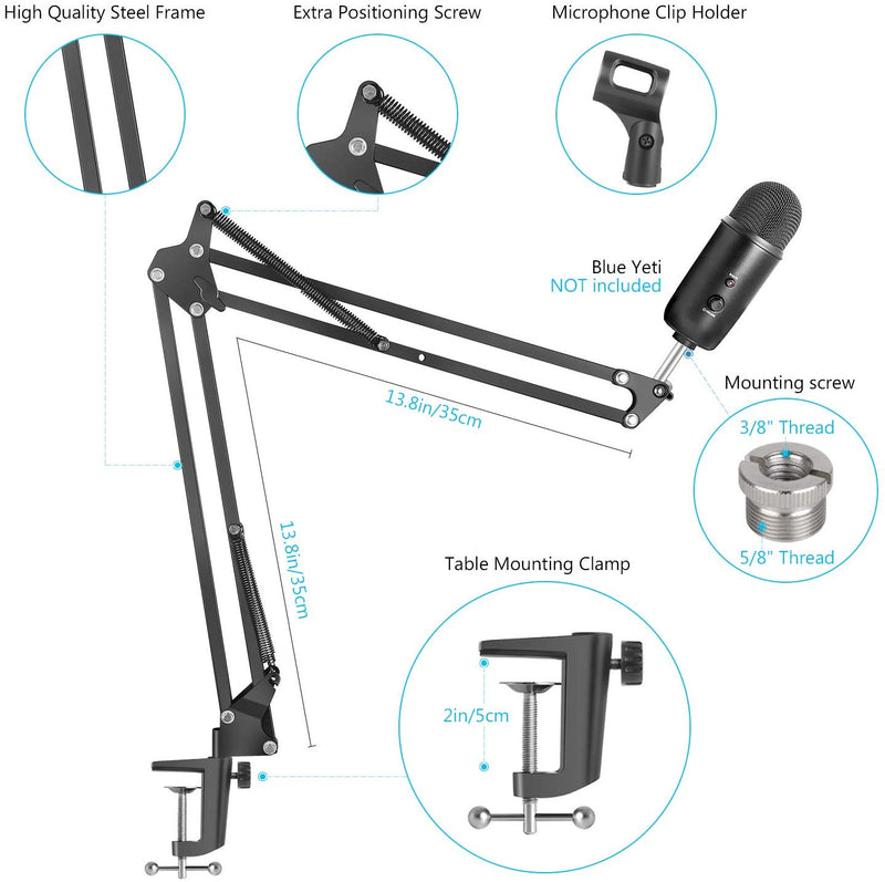 Extendable Recording Microphone Holder