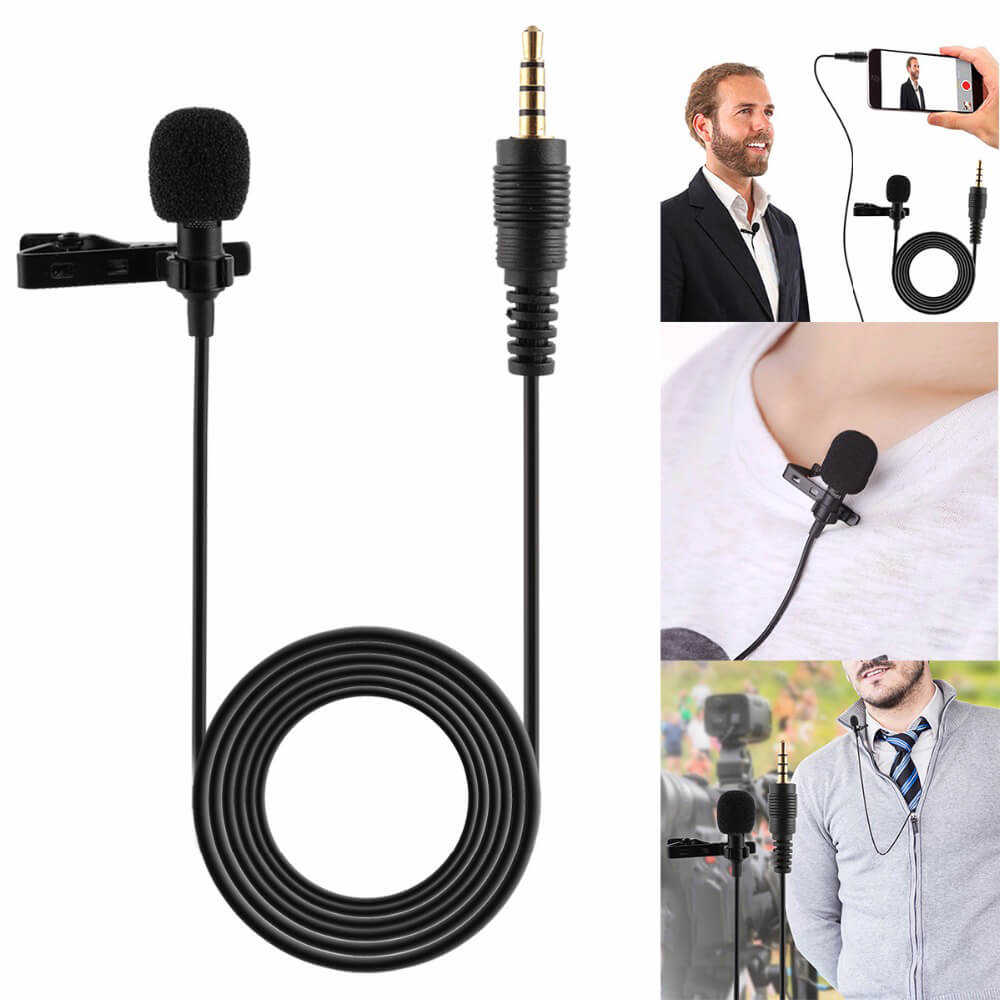 Microphone - Professional Grade Studio Quality Clip-on Lapel Lavalier Mic