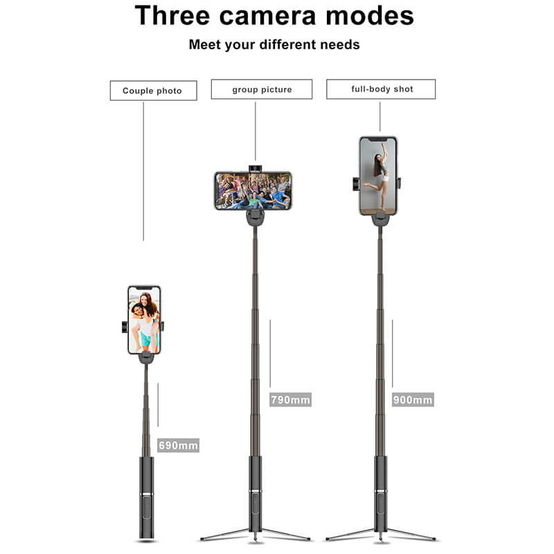 3 in 1 Wireless Bluetooth Selfie Stick-2