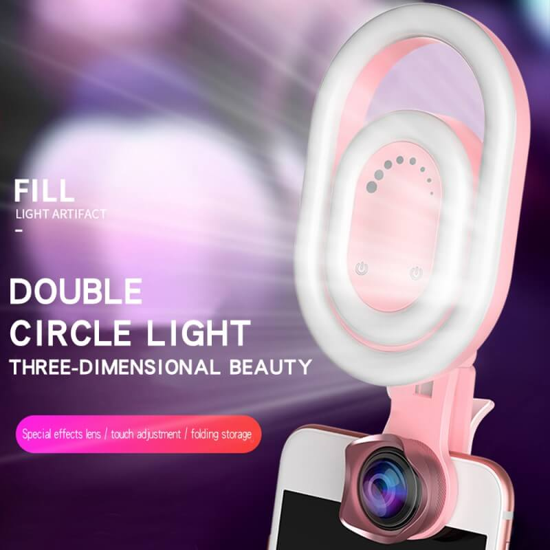 Phone Camera Lens With Beauty Fill Light