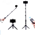 Selfie Stick Ring Light Kit - Incl Mini Ring Light, Mini Tripod, Selfie Stick, & Remote