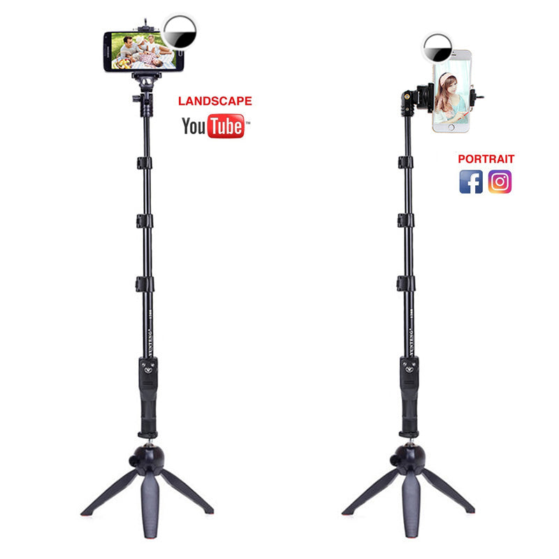 Selfie Stick Ring Light Kit