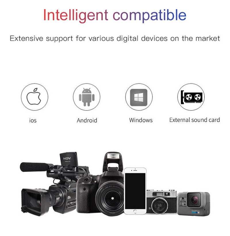 Video Recording Microphone for Smartphone and Camera