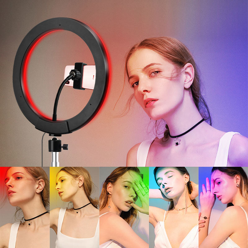 "YO-GOGO 10"" RGB Colorful LED Ring Light kit"