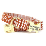 Terracotta Tribal Dog Collar | Santa Fe