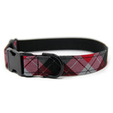 Red and Black Plaid Collar