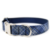 RTS Blue and Gray Plaid Collar