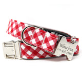 Lipstick Plaid Bow-Tie