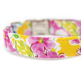 Yellow Floral Dog Collar Personalized-Sunshine Floral