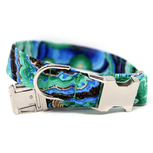 Blue and Green Collar | Agate in Green