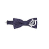 Check bow tie with lyre print
