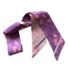 Madama Butterfly Ribbon Scarf Purple/Pink