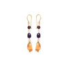 Tisha Three Stone Earrings