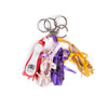 Purple Ballet Shoe Keyring