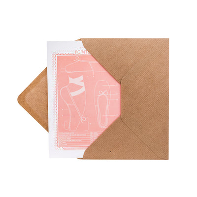 Pointe Shoe Greeting Card