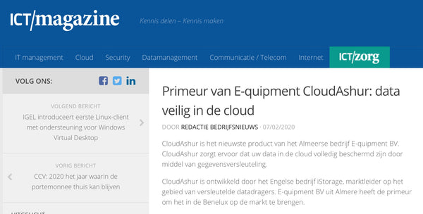 ICT Magazine over CloudAshur
