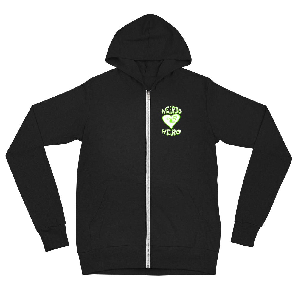 Weirdo Hero - Randy Myers Unisex Zip Up Hoodie