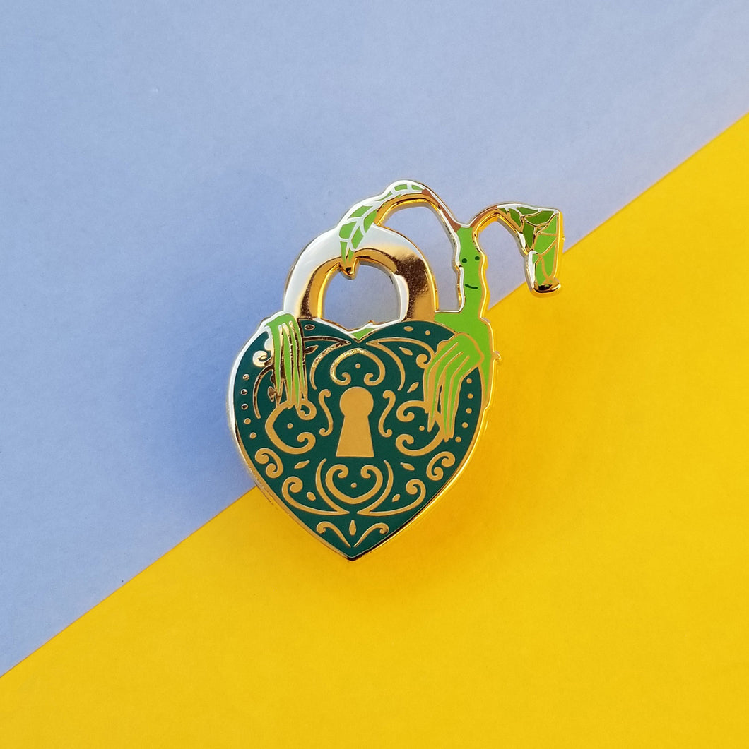 Magical Plant Creature Lock Enamel Pin