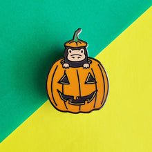Load image into Gallery viewer, Pumpkin Magical Creature Enamel Pin