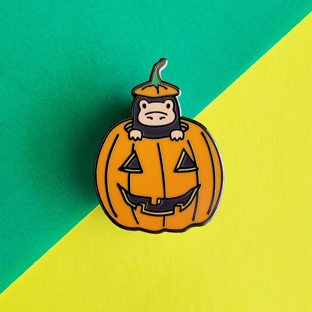 Pumpkin Magical Creature Enamel Pin