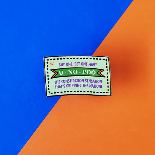 U-No-Poo Coupon Enamel Pin