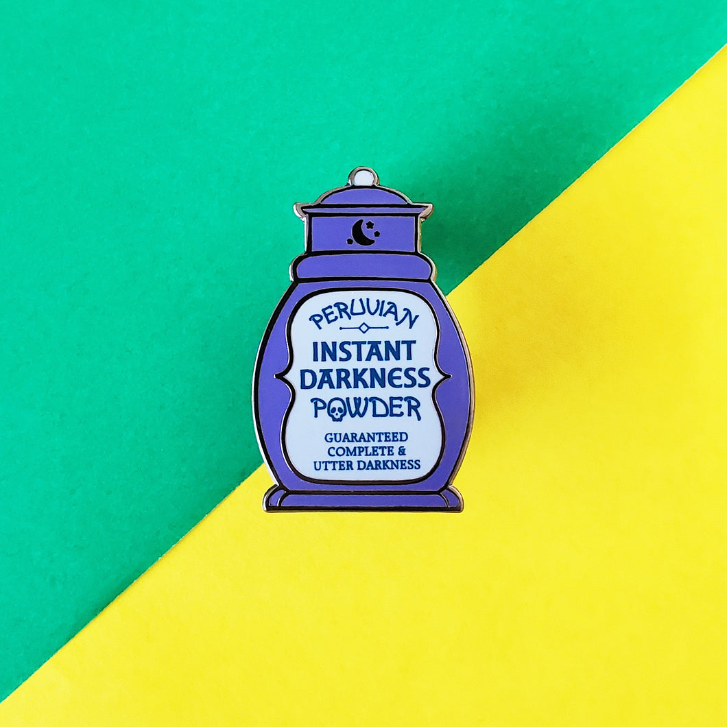 Peruvian Instant Darkness Powder Enamel Pin