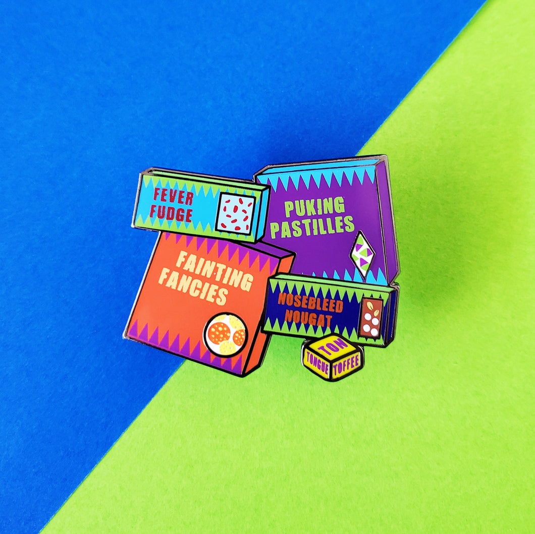 Sneaky Snacks Enamel Pin